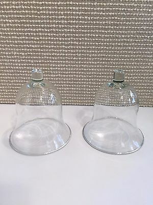 Home Interior Milano Clear Votive Cups Set of 2 Bell Shaped Candle Holders