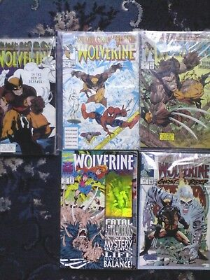 wolverine comic issues 43,44,50,69 and 75