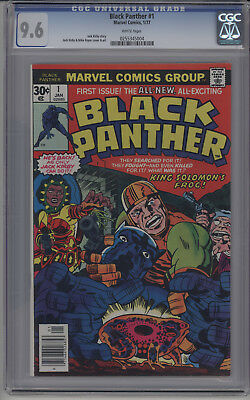 Black Panther #1 (Jan 1977, Marvel) CGC 9.6 White Pages