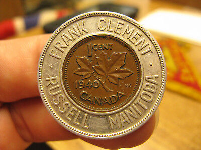 Canada encased Frank Clement Russell Manitoba Bet Your Last Cent on Pontiac 1940