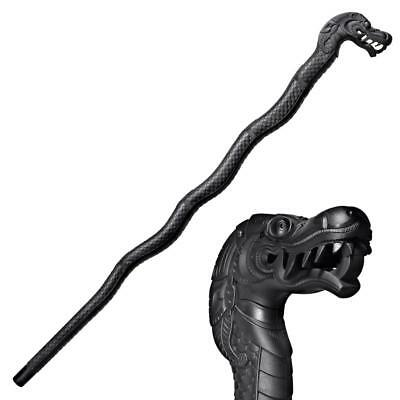 NEW War Sword Cold Steel Black Dragon Walking Stick Bartitsu Training