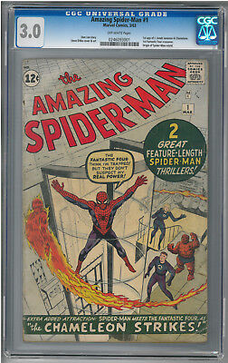 The Amazing Spider-Man #1 (Mar 1963, Marvel) CGC 3.0