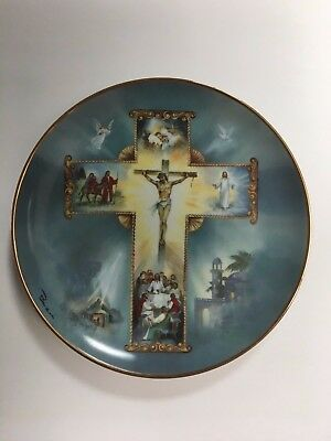 The Life of Christ Plate Franklin Mint Limited Numbered Edition By Bar Zoni