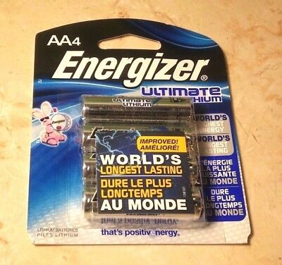 4 AA Energizer Ultimate Lithium Batteries  -4 Exp 2036 1.5v