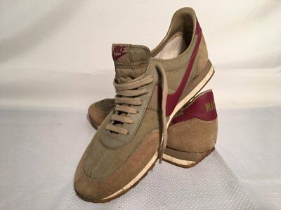 Vintage 1983 Tan Red NIKE Waffle Oceania Women's Running Shoes Rare HTF