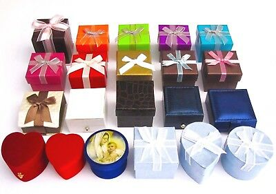 Stylish n Colorful Jewelry Gift Boxes/Ring/Earring/Red Heart Blue/Green/Bow NEW