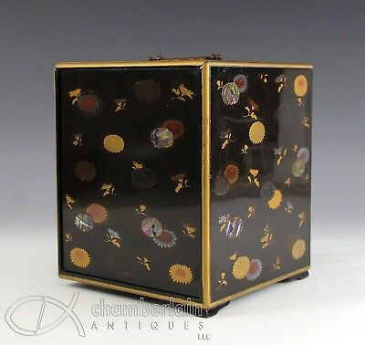 Interesting Old Japanese Lacquer Box With 3 Drawers