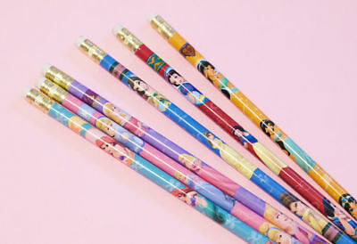 New Set of 6 Disney Princess Pencils w/ Free Shipping