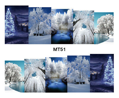 Nail Art Decals Transfers Stickers Winter Is Coming (MT51)