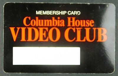 Expired Membership Card from Columbia House Video Club