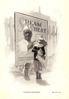 1924 Cream of Wheat: Counting His Pennies (23348) Print Ad