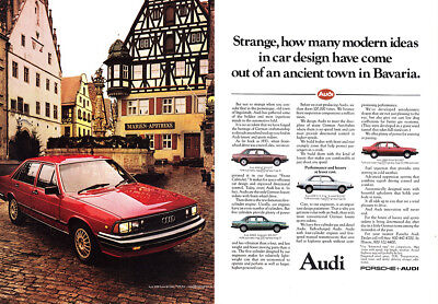 1981 Audi: Strange How Many Modern Ideas (24181) Print Ad
