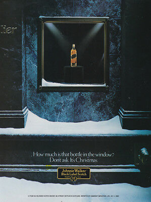 1982 Johnnie Walker: How Much Is That Bottle In the Window (29742) Print Ad