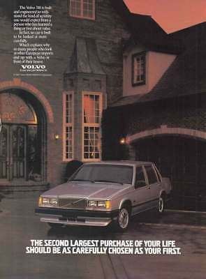 1987 Volvo 740: Second Largest Purchase (9154) Print Ad