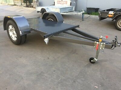 Brand New Customized Wheel deisgn Flat Trailer single axle 7X4 FT H-DUTY BIKES
