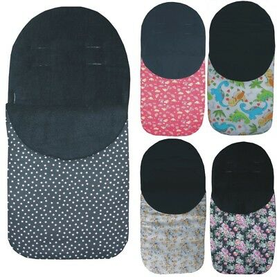 JAZZY FOOTMUFF / COSYTOES - Universal Style - WARM BLACK FLEECE LINING -