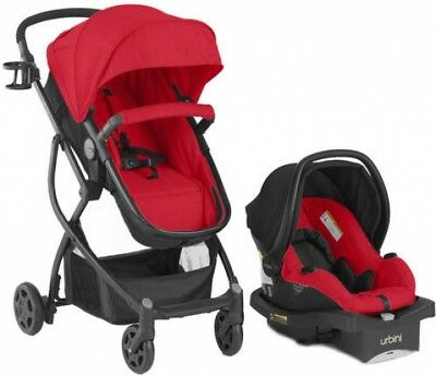 Omni Baby Stroller Car Seat 3 in 1 Travel System Infant Carriage Red Infant NEW