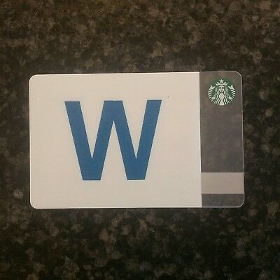 "2017 Custom Starbucks Card - Chicago ""Fly The W"" for your Cubs and get coffee!"
