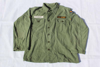 Vintage U.S. ARMY Issued Vietnam War-Era Military Button Up Shirt