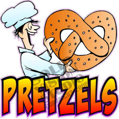 "7"" Pretzel Fun Concession Trailer Food Cart Sign Decal"