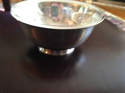 Revere Style Bowl Reed & Barton 1120 Silver Plate