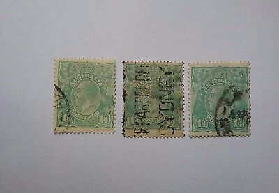 Australia KGVs 1 1/4 shilling used different shades