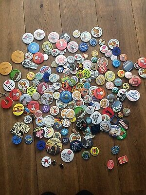 collection of vintage badges