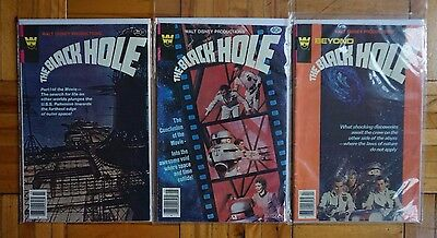 THE BLACK HOLE movie comic (1980) ~ LOT of 3 ~ Whitman ~ FREE SHIPPING