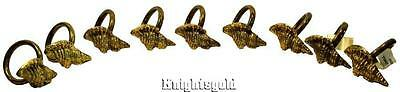 Napkin Rings Brass Conical Conch Sea Shells Set of 9 Serviette Holders