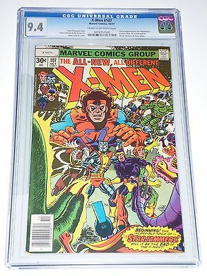 X-Men (Uncanny) #107 (Oct 1977) CGC Graded 9.4 1st Starjammers Appearance