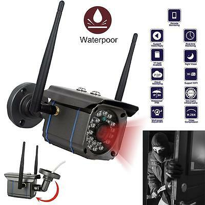 Waterproof Wireless 720P HD WiFi Outdoor IP Camera Security CCTV Night Vision RT