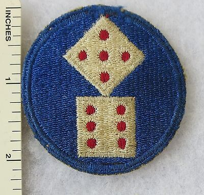 Used ORIGINAL WW2 Vintage 11th US ARMY CORPS PATCH Cut Edge