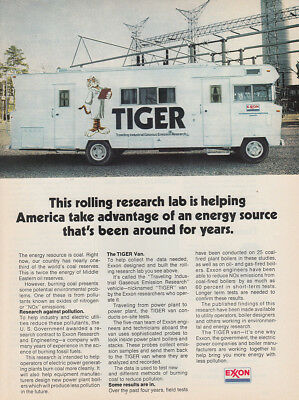 1975 Exxon: Tiger, Rolling Research Lab (29146) Print Ad