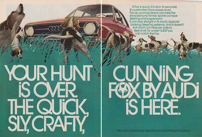 1973 Audi Fox: Your Hunt Is Over (29793) Print Ad