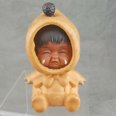Vintage 3 Face Changing Rubber Eskimo Baby Toy Doll Happy Sad Made In Hong Kong