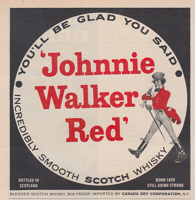 1962 Johnnie Walker Red: You'll Be Glad You Said (30065) Print Ad