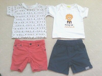 Boy's Summer Bundle, Size 0 x 4pcs, New to Excellent Used Condition