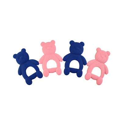 2X Baby Teether Newborn Safety Biting Rubber Cartoon Baby Teethers Cute Bear GT