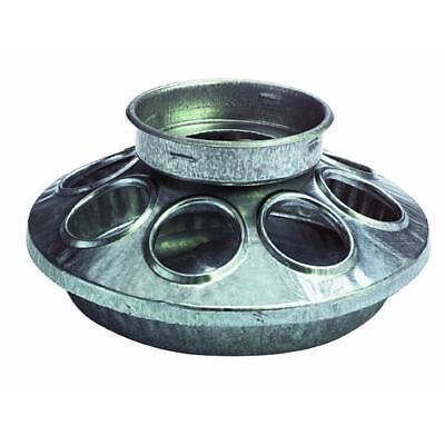 "Galvanized Poultry Mason Feeder 1 Quart 6"" Diameter"