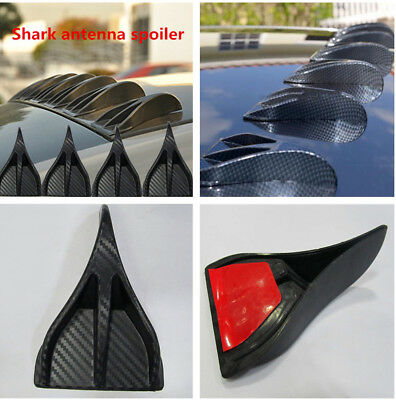 8Pcs Carbon Fiber Syle Tail Lines Spoiler for Universal Car Rear Midpoint Roof