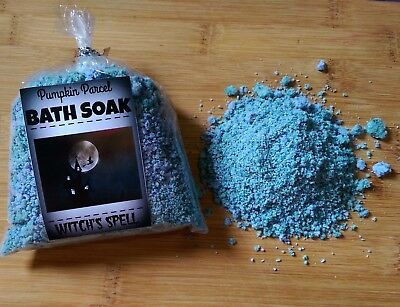 Witch's Spell Bath Soak - Handmade With Epsom Salts - Fresh Mint & Apple