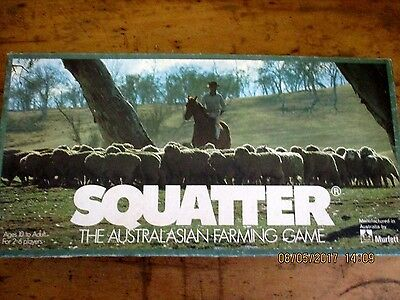 ~Vintage Squatter Board Game - The Australasian Farming Game - Complete - Gc~