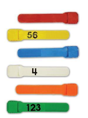 Boc Multi Loc Plastic Leg Bands JR # Numbered 1-25 YELLOW Dairy Sheep Goat Milk