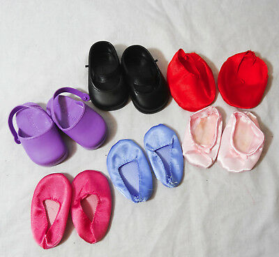 "Lot of 6 pairs of doll shoes for 18"" doll alexander american girl sandals"