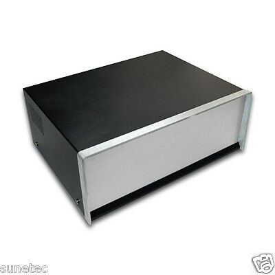 """SR1295 12"""" Metal Instrument Enclosure, Metal Chassis, Electronic Case for DIY"""