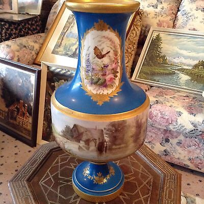 Stunning Antique French Sevres Hand  Porcelain Vase, 46cm