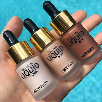 Highlighter Liquid Cosmetico Face Contour Brightener Glow Shimmer Drop Trucco