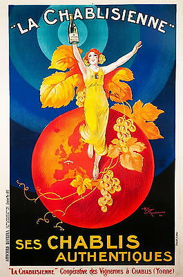 Paper Print Poster 60cm Vintage Advert Champagne French Classic for Glass Frame