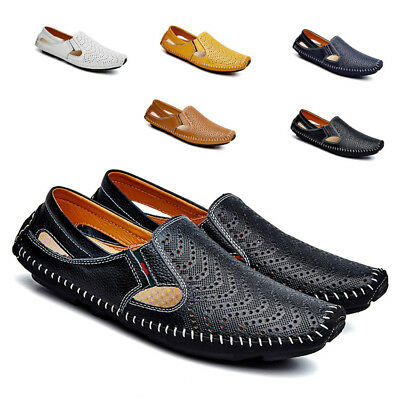 Men Slip On Loafer Summer Driving Moccasin Casual Brogue Flat Shoes Sandals