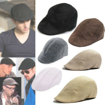Mens Pageboy Newsboy Driving Cabbie Hat Golf Gatsby Ivy Cap Flat Sun Flat French
